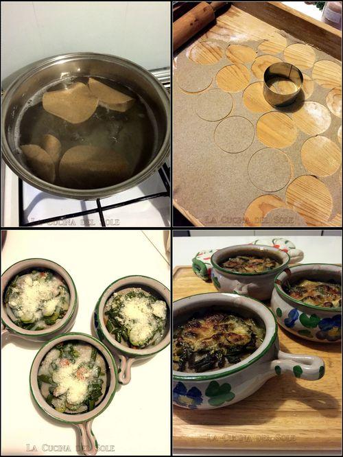 Collage lasagne di saraceno con verdure